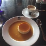 Flan and cappuccino. Wonderful finish!