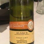 Vin blanc avec foie gras