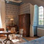 Chambre Florence au Château de la Ballue. Photo ©Yann Monel