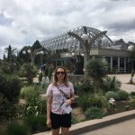 In front of the Boettcher Memorial Tropical Conservatory
