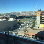 View from our room of the El Paso Chihuahua's baseball park.