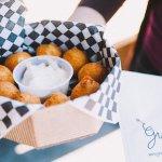 Crispy potato puffs on our Gourmet Ghetto Tour