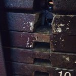 Cracked weights in the fitness room