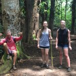 """Hiking with our guide Kyle to the """"Secret Falls""""."""