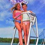 Hanging out up top of the Tiki Tiki