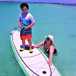 First time on a paddleboard