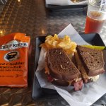 The Reuben sandwich and chips