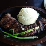 Lunch portion 8 oz Entrada skirt steak, rare, now $15.99