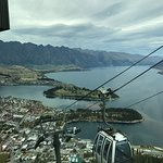 A Queenstown hill view inside the Stratosfare Restaurant