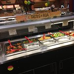 Some of the food bats at the Wegman's Market Café