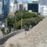 vista de la ciudad desde la huaca