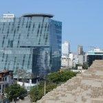 vista de la ciudad desde la huaca II