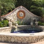 Fountain at the entrance of the campground.