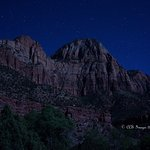 Zion Canyon by moonlight
