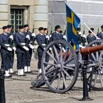 Changing of the guard at the Royal Palace, Stockholm.