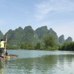 Bamboo river rafting, so much fun surrounded by beautiful scenery.
