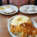 Chicken Fried Steak, Biscuits and Gravy, Eggs Copenhagen