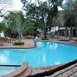 Pool adjacent main building. View of Chobe River