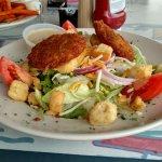 Crab cake salad