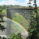 Bridge across gorge. Separates Zimbabwe and Zambia