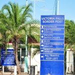 Customs post on bridge between Zambia and Zimbabwe