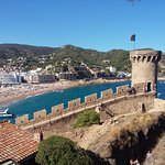 View from the top of the Villa Vella, Tossa De Mar Beach