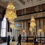 Alexander Hall, one of the many reception rooms in the Royal Palace in Copenhagen.