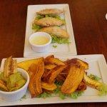 Empanadas and fried plantain chips w/guac!