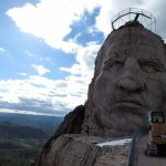 Standing on Crazy Horse's arm and taking in the view.