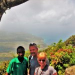 Summitt of Gros Piton with our guide Erroll Albert <3