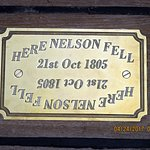 Plaque to Commemorate where Lord Admiral Nelson Fell
