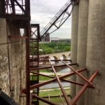View between silos
