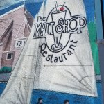 Malt shop, outside mural
