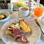 Photo of my selections from the buffet continental breakfast at Hotel L'Orologio