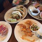 Happy Hour appetizers...Steak Tacos, Fired Shrimp, Prime Rib Sliders