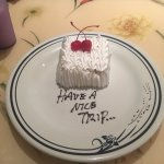 a sweet gesture from our server