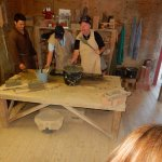 Making bricks for the 13th century buildings.