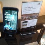 Smart phone with internet which you can use for free during your stay