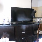 TV, mini bar  and additional cabinet space
