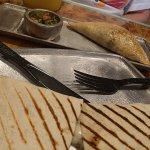 Quesadilla and empanada
