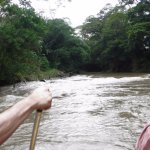 Very gentle rapids...easy to navigate and fun!