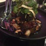 soy braised wagyu brisket, peanut tamarind caramel, hot and sour coconut salad