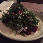 Beetroot Salad with pecan crumble, arugula, feta buttermilk