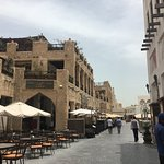 the cafes inside Souq Waqif