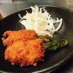 アスパラと豚の串カツ1本¥150