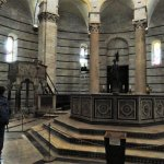 Inisde--The font and the pulpit