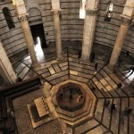 Looking down at the Font