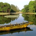 Beautiful lake at the Nationalities Village