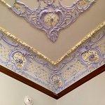 Plasterwork on ceiling
