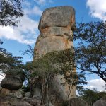 Typical granite outcropping (koppie) in Marondera area